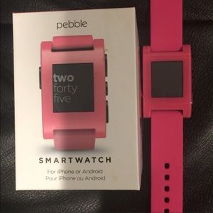 Accessories - Pink pebble smart watch . Works great .